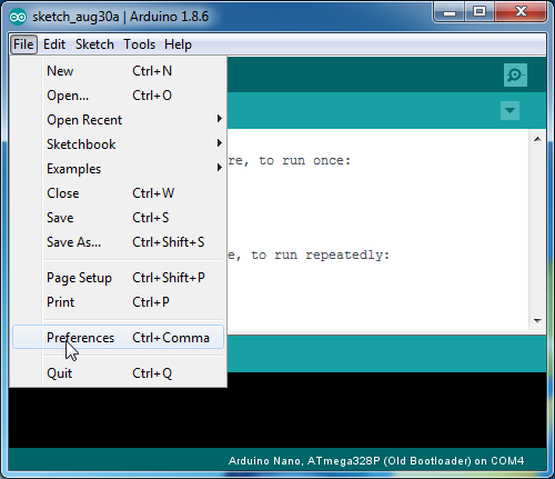 Programming the Arduio | Robotics Programming